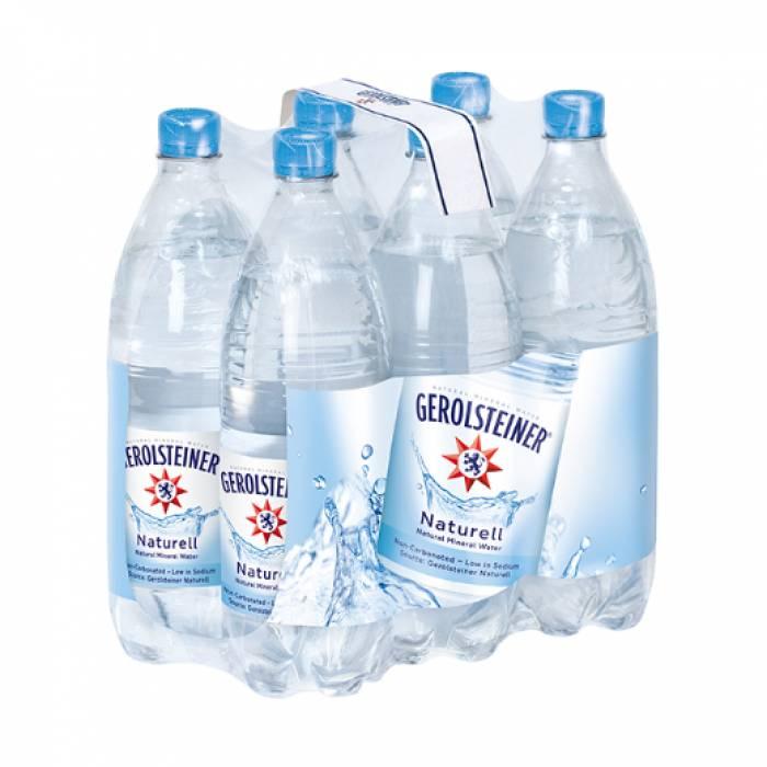Gerolsteiner Naturell Mineral Water 1.0L 6's